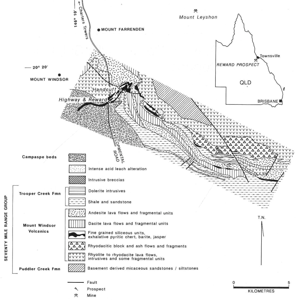 Reward Deposit Regional Geology