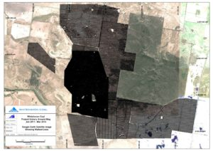 High resolution ground magnetic survey surrounding a coal mine in Gunnedah Basin Horizontal Derivative in Northern Direction RTP UC4