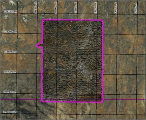 Uranium Project – NW Mt Isa: 50m line spacing Google Earth Image.