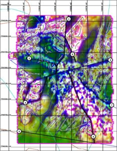 RGB Composite image : Combined 1VD AS RTP eg.Uranium Project – NW Mt Isa
