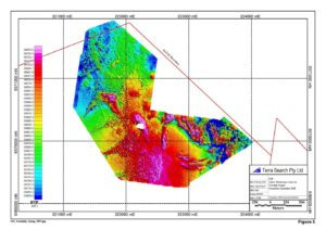 High Resolution Ground Magnetic Survey 10m line spacing Gunnedah Basin Coal RTP